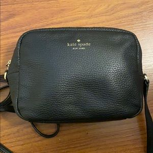Black Kate Spade crossbody purse